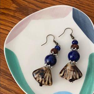 Boho Boutique Navy Shell Elements Earrings